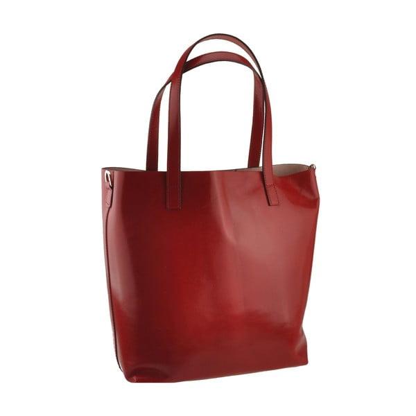 Červená kožená kabelka Florence Tangor