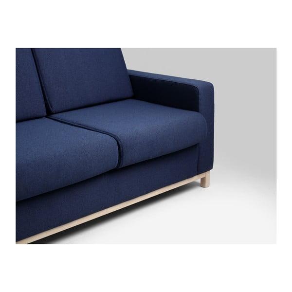 Modrá rozkládací třímístná pohovka Custom Form Scandic
