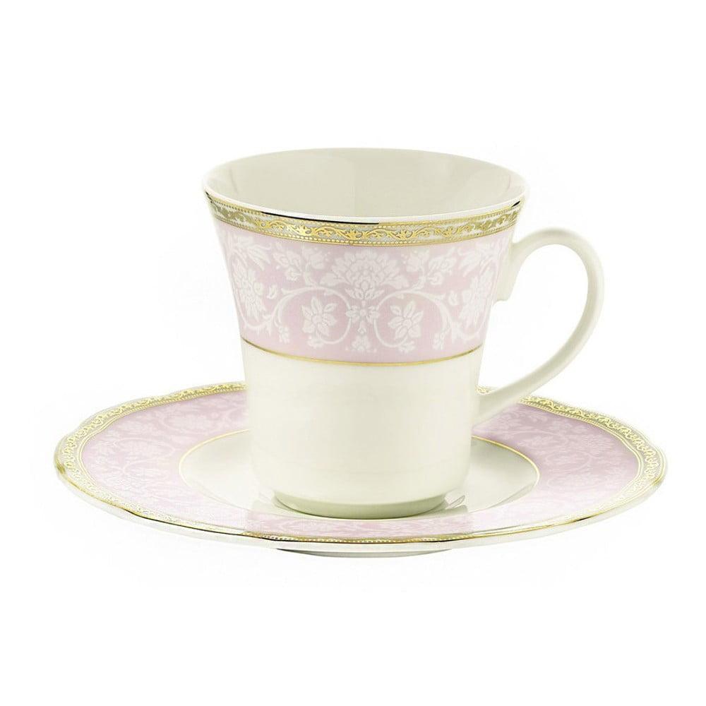 Sada 6 porcelánových šálků s podšálkem Kutahya Coffee Shop, 80 ml