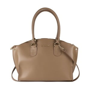 Šedobéžová kožená kabelka Lampoo Kajio