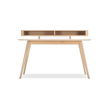 Birou de lucru cu sertare din lemn masiv de stejar Gazzda Stafa imagine