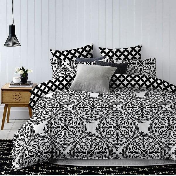 Lenjerie de pat din microfibră pentru pat dublu DecoKing Basic Hypnosis Mandala, 200 x 220 cm