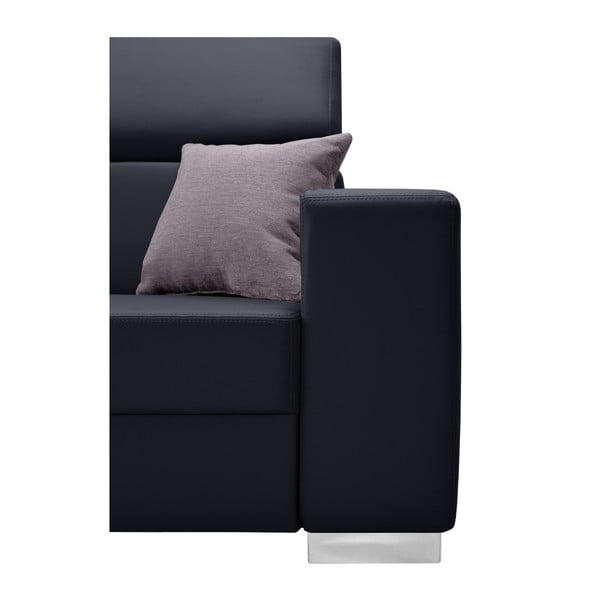 Tmavě modrá sedačka s růžovými polštáři Interieur De Famille Paris Tresor, levý roh