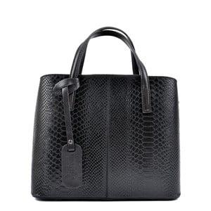 Černá kožená kabelka Roberta M Mattia