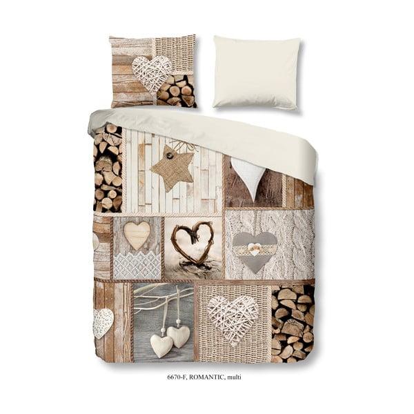 Lenjerie de pat din flanel Good Morning Romantic, 200 x 200 cm