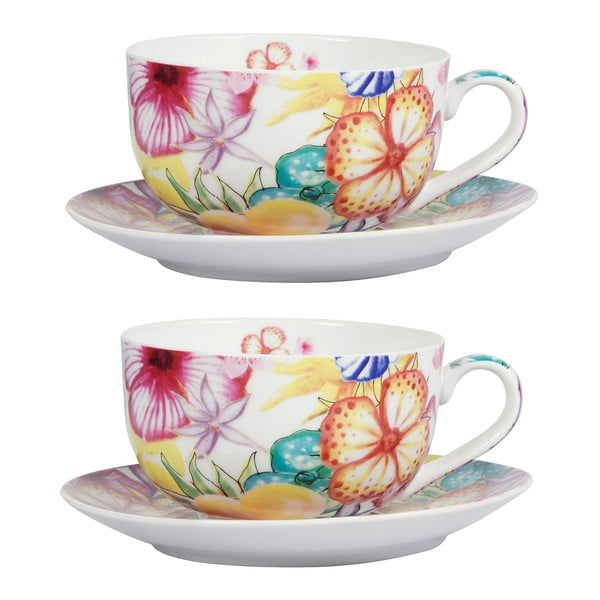 Sada 2 porcelánových hrnků Blooming Teacup