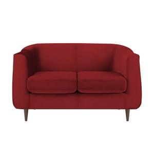 Červená dvoumístná pohovka Kooko Home Glam