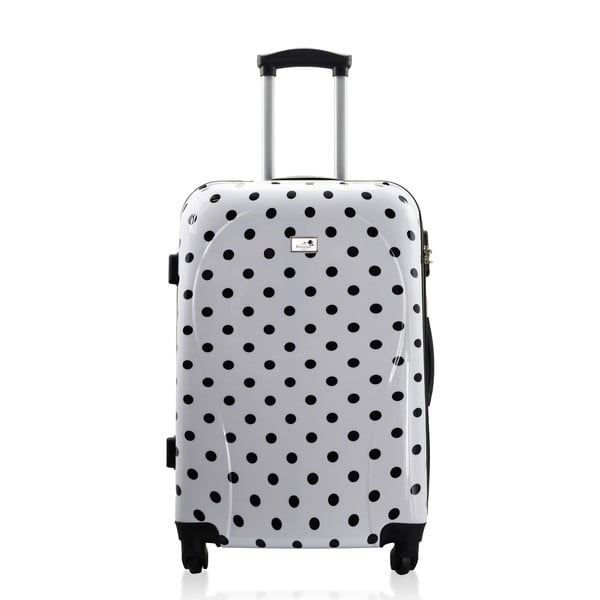 Sada 3 kufrů Integre White Black Dots, 114 l/75 l/46 l