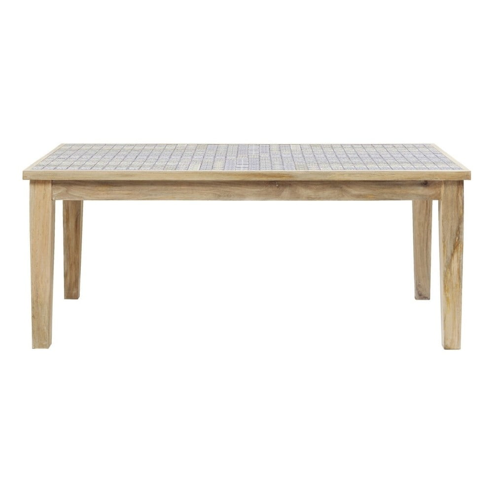Dřevěný jídelní stůl s kameninovou deskou Kare Design, 180x90cm