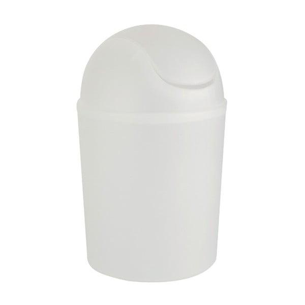 Biały kosz na śmieci Wenko Arktis, ⌀ 32 cm