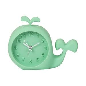 Zelené hodiny s budíkem Just 4 Kids Green Whale