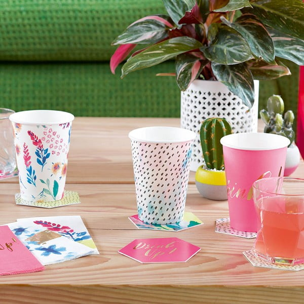 Sada 12 papírových kelímků Talking Tables Fantastic Summer