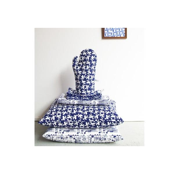 Povlečení Huis 140x200 cm, modré