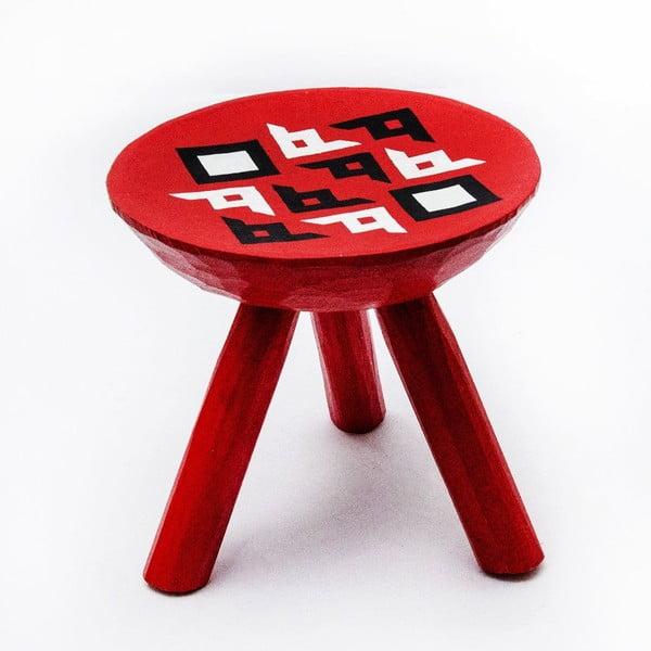 Ručně malovaná stolička Bran, 28 cm