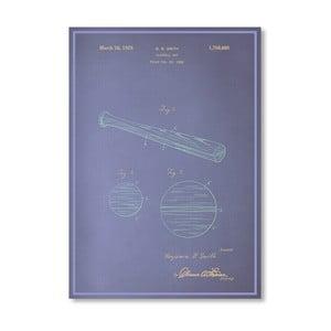 Plakát Baseball Bat, 30x42 cm