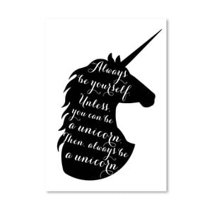 Poster Americanflat Always Be a Unicorn, 30 x 42 cm