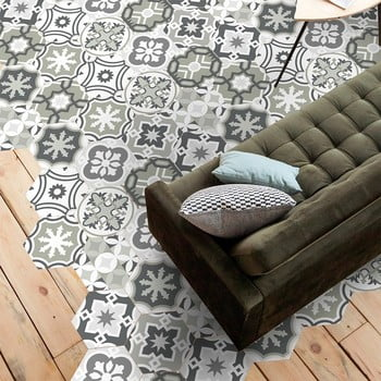 Set 10 autocolante impermeabile pentru podea Ambiance Chopita, 20 x 18 cm de la Ambiance
