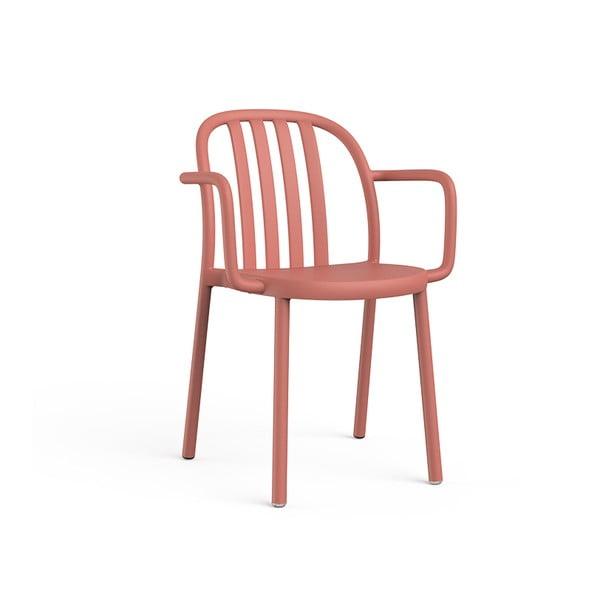 Set 2 scaune de grădină cu cotierei Resol Sue, portocaliu cărămiziu
