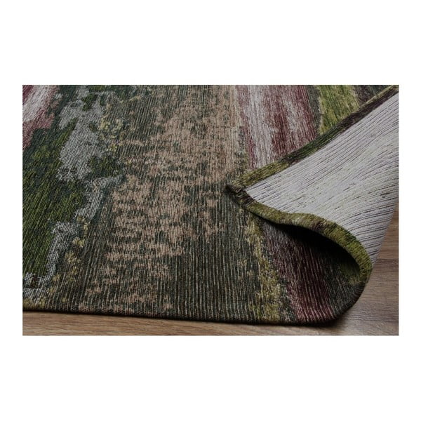 Covor Eco Rugs Green Abstract, 80x300cm