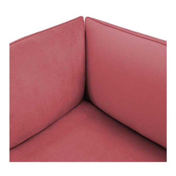 Červenorůžová dvoumístná modulová pohovka Vivonita Velvet Cube