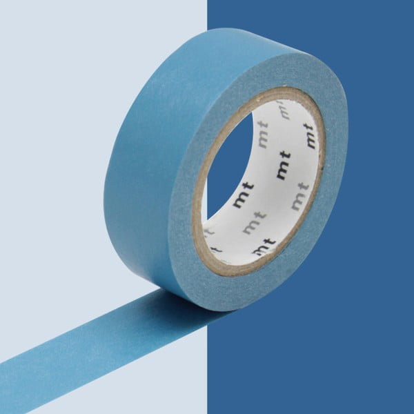 Bandă washi MT Masking Tape Uni, albastru