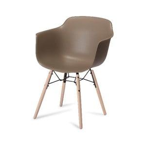 Šedá jídelní židle s nohami z bukového dřeva Furnhouse Jupiter