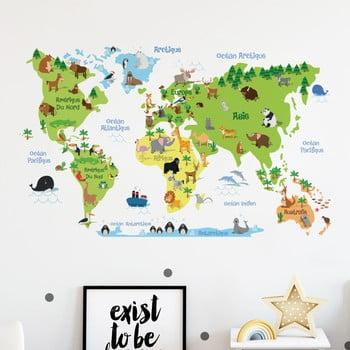 Autocolant de perete Ambiance Childrens World Map de la Ambiance
