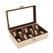 Béžový box na deset hodinek Friedrich Lederwaren Cordoba