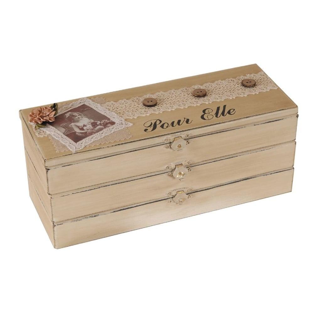 Dřevěný box Pour Elle