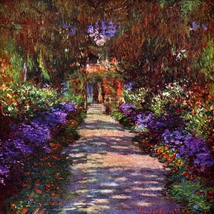 Tablou Claude Monet - Path in Monets Garden, 60x60 cm