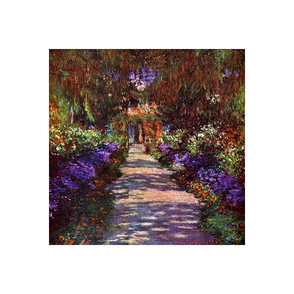 Obraz Claude Monet - Path in Monets Garden, 40x40 cm