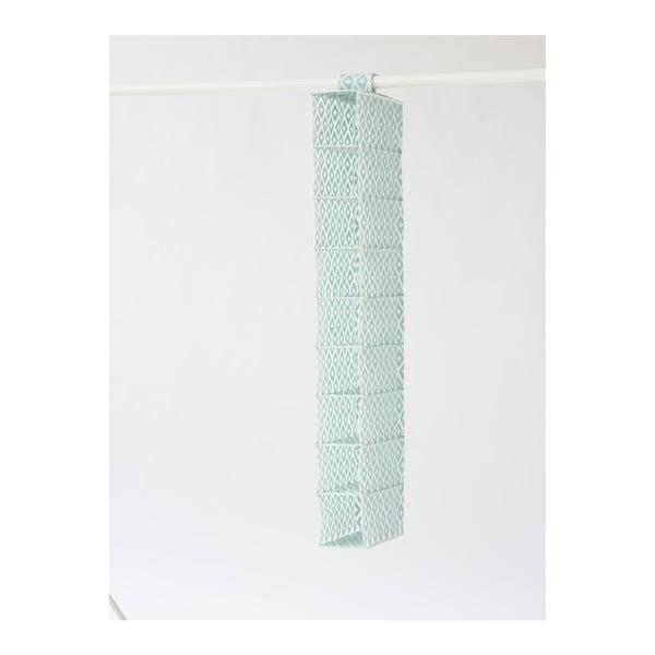 Zelený organizér do šatní skříně s 9 přihrádkami Compactor, šířka 15cm