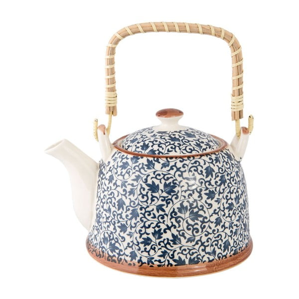Modrá porcelánová konvička Clayre&Eef, 700ml