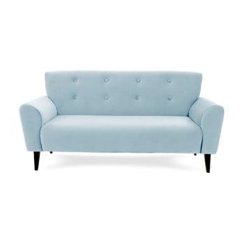 Canapea cu 3 locuri Vivonita Kiara, albastru deschis de la Vivonita