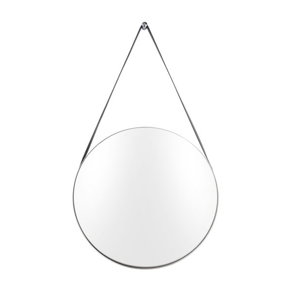 Nástěnné zrcadlo s rámem ve stříbrné barvě PT LIVING Balanced, ø47 cm