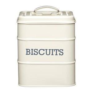 Krémová plechová dóza na sušenky Kitchen Craft Biscuits