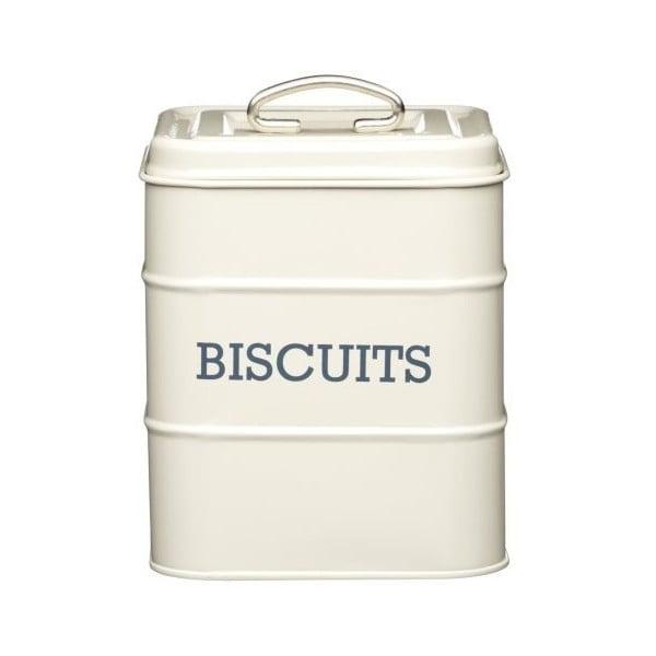 Krémová plechová dóza na sušienky Kitchen Craft Nostalgia