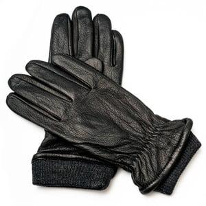 Pánské černé kožené rukavice <br>Pride & Dignity Soho, vel. XL