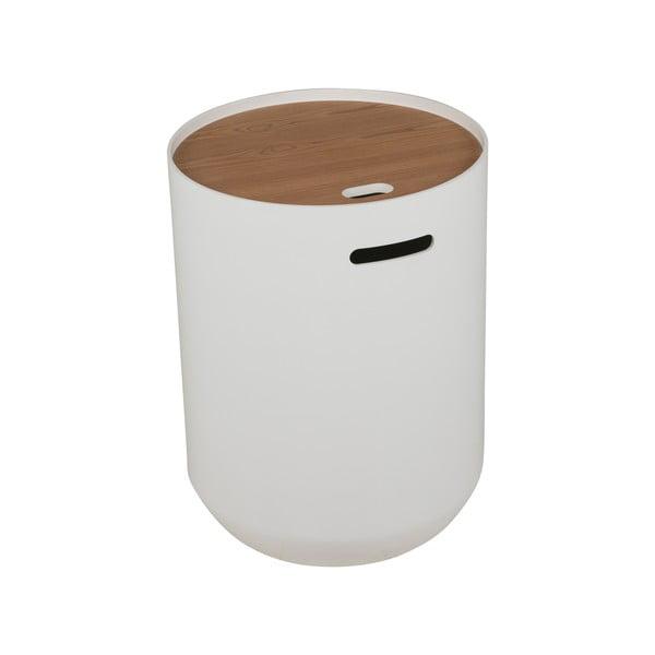 Bílý konferenční stolek Canett Olivia Ø 39cm