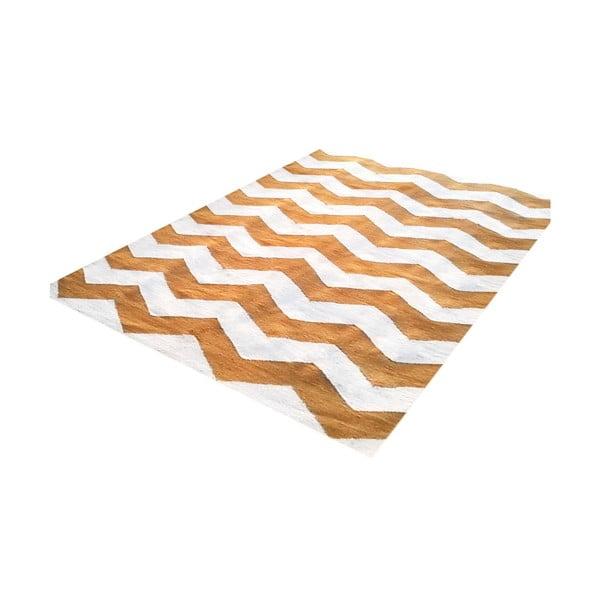 Ručně tkaný koberec Kilim Design Three Orange, 160x230 cm