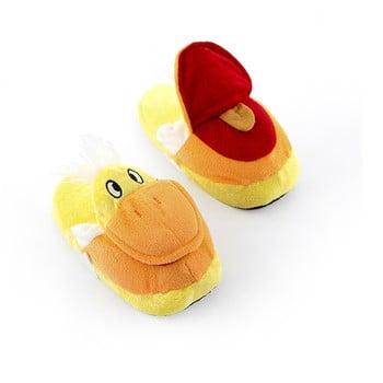 Papuci pentru copii InnovaGoods Fluffy Slippers Duck, mărime M imagine