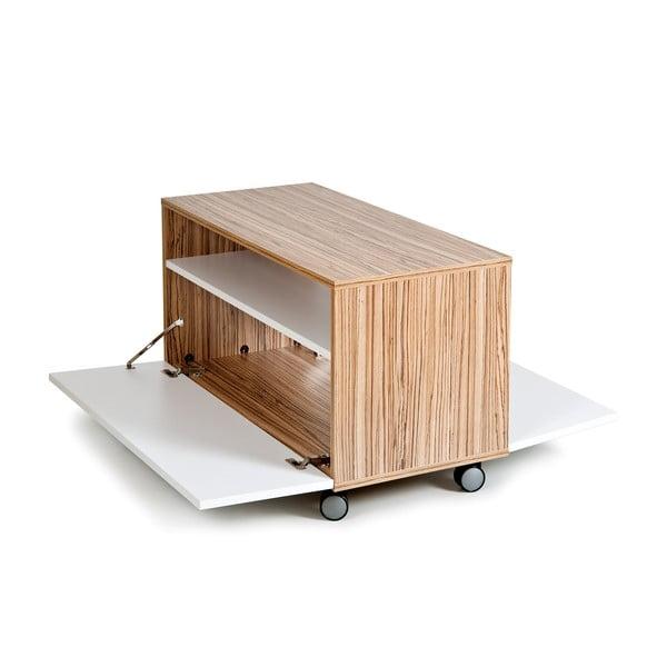 Konferenční stůl s úložným prostorem Decoflex, bílá/samba