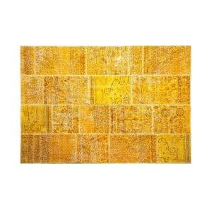 Vlněný koberec Allmode Yellow, 150x80 cm
