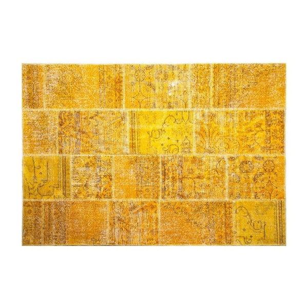 Vlněný koberec Allmode Yellow, 180x120 cm