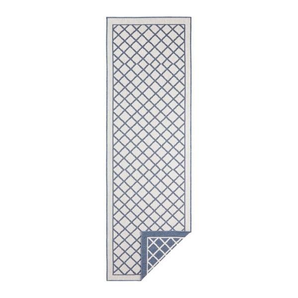 Modro-krémový venkovní koberec Bougari Sydney, 250 x 80 cm