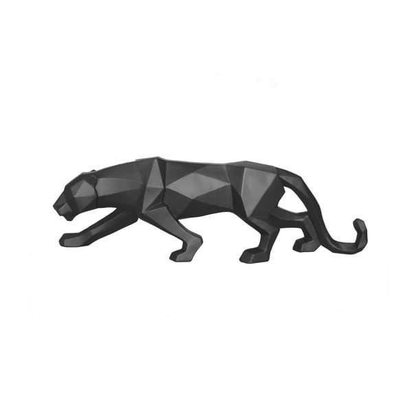 Matowa czarna figurka PT LIVING Origami Panther