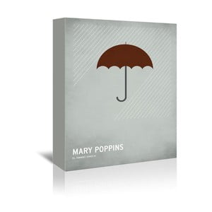 Obraz na plátně Mary Poppins With Text od Christiana Jacksona