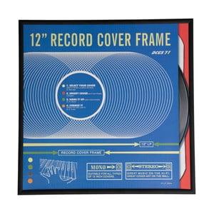 """Černý rám na vinylové desky,12"""""""