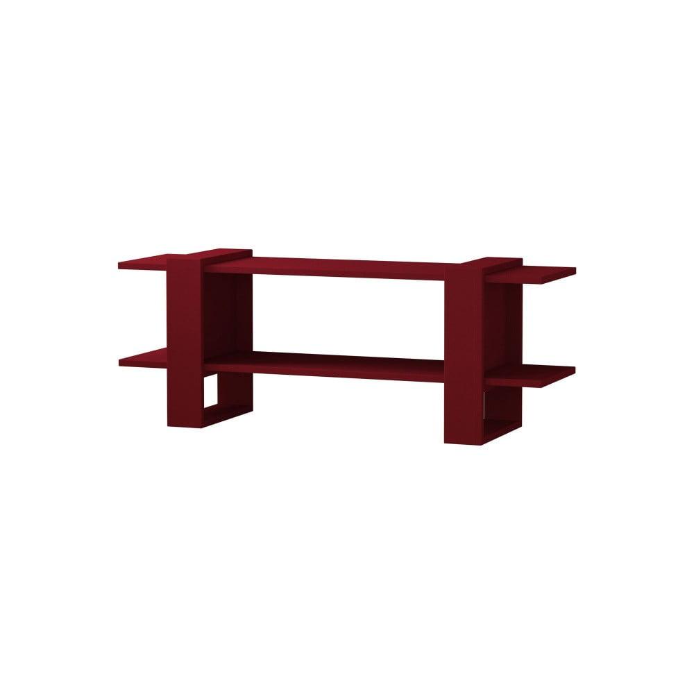 Tmavě červený TV stolek Homitis Certo