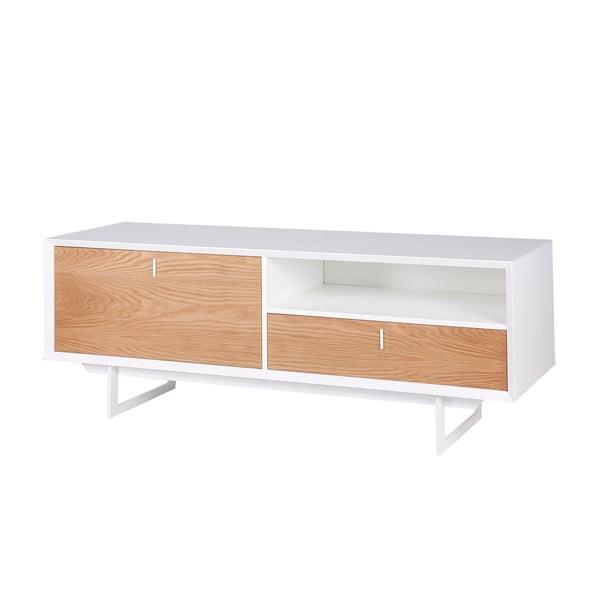 Brązowo-biała szafka pod TV sømcasa Porto